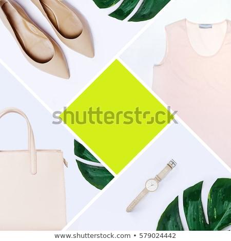 моде блоггер путешественник минимальный набор женский Сток-фото © Lana_M