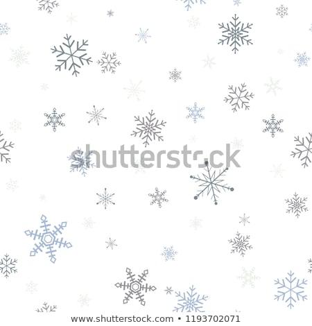 Papel silhueta veado flocos de neve ano novo natal Foto stock © Artspace