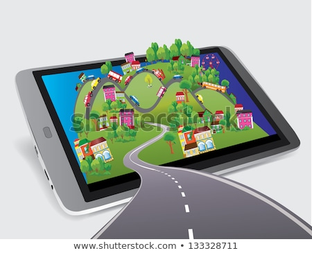 Tablet computer with City Map Stock photo © biv