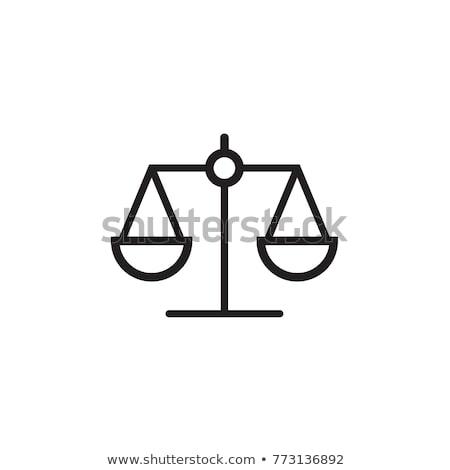 адвокат масштаба икона символ дизайна прав Сток-фото © blaskorizov
