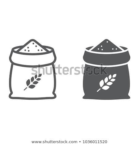 Stock fotó: Színes · búza · ikonok · minta · pékség · kenyér
