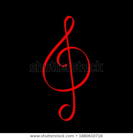 Music Note with G Sound Melody Monochrome Icon Stock photo © robuart