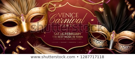 Maschera veneziana lucido bokeh texture libro Foto d'archivio © hitdelight