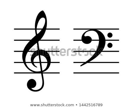 музыки отмечает масштаба шаблон иллюстрация музыку фон Сток-фото © colematt
