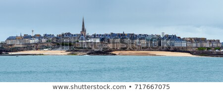saint malo old city over atlantic coast france stock photo © neirfy