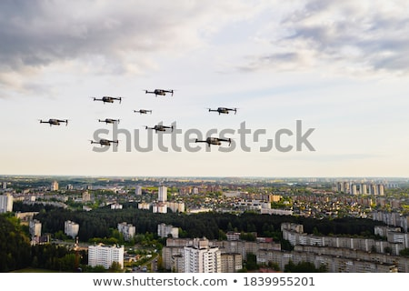 Drone and airplane together on sky Stock photo © adamr