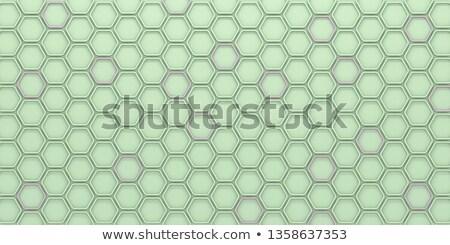 зеленый розовый шестиугольник плитки 3D 3d визуализации Сток-фото © djmilic