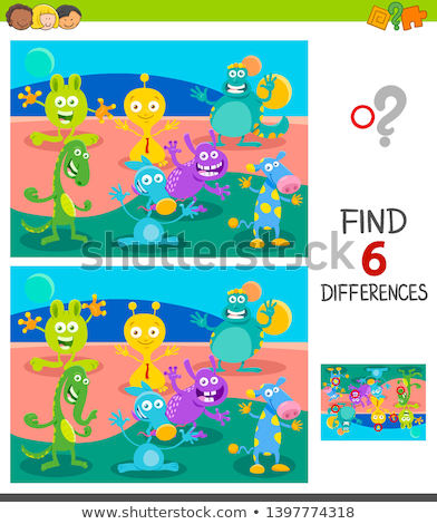 Cartoon Fantasy Monster or Alien Characters group Stockfoto © izakowski