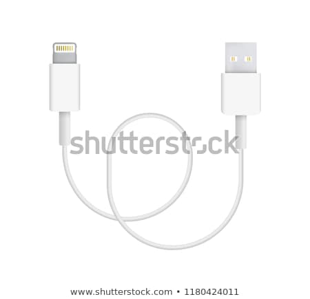 Realistic Type Of Charger Phone Cable Plug Vector Foto d'archivio © pikepicture