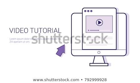 Vídeo tutorial teia bandeira on-line Foto stock © RAStudio