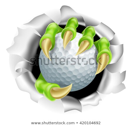 Foto stock: Golf Ball Eagle Claw Talons Ripping Background