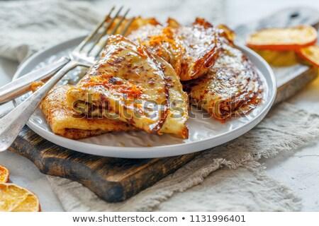 Piatto francese sfondo colazione dolce Foto d'archivio © Alex9500