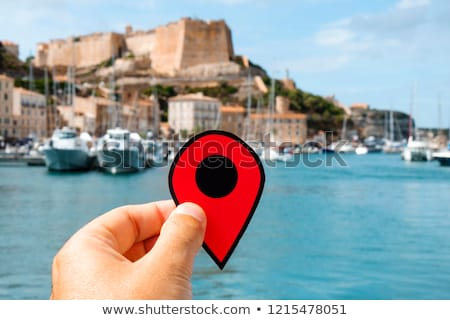red marker in the citadel of Bonifacio, France Stock photo © nito