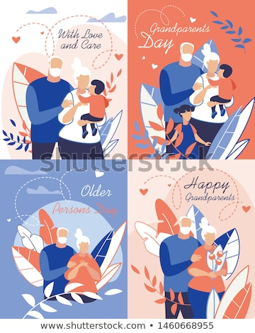 счастливым дедушка и бабушка вектора Cartoon иллюстрация дедушке Сток-фото © brahmapootra