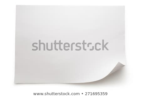 White Blank Sheet Of Curled Paper Isolated White Background Stock photo © barbaliss