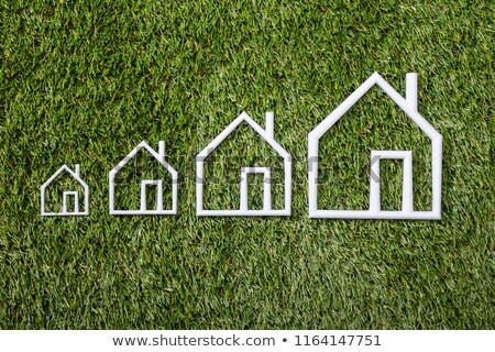 Boyut ev yeşil ot inşaat model Stok fotoğraf © AndreyPopov