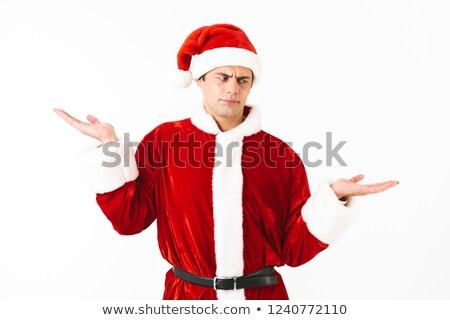 portret · europese · man · 30s · kerstman · kostuum - stockfoto © deandrobot