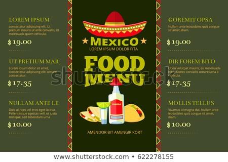 Colore vintage cibo messicano poster illustrazione design Foto d'archivio © netkov1