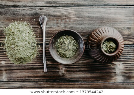 Flat lay of mate tea Stock photo © grafvision