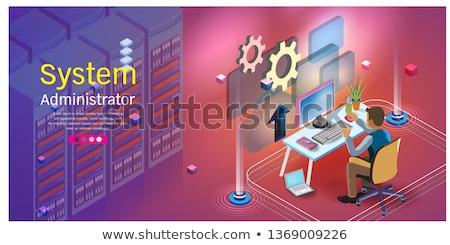администрация · рабочих · сервер · обслуживание · сеть - Сток-фото © rastudio