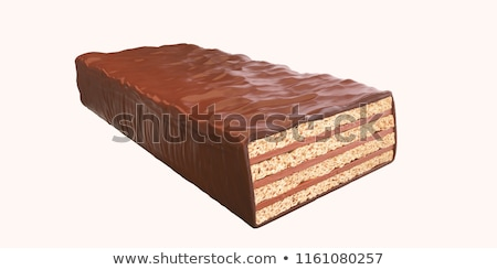 White and brown chocolate wafers Stock photo © magraphics