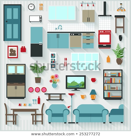 house interior furniture indoor moving vector stock photo © robuart