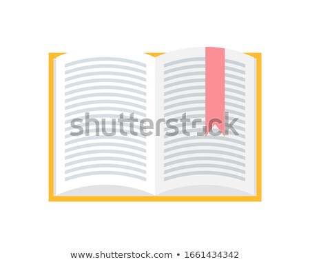 Notebook with Bookmark Made of Red Cloth Icon Stock photo © robuart