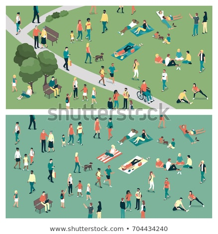people leisure in city people meeting vector stock photo © robuart