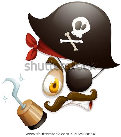 Pazza pirata gancio spada nave deck Foto d'archivio © jossdiim