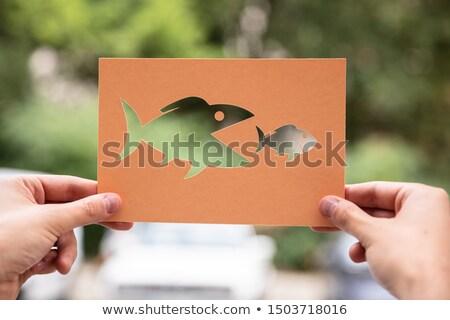 手 紙 カットアウト 魚 屋外 ストックフォト © AndreyPopov