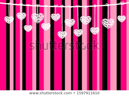 Papier rosa schwarz Girlande Dekoration Halloween Stock foto © furmanphoto
