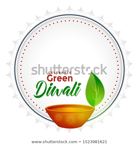 green diwali concept background with text space stock photo © sarts