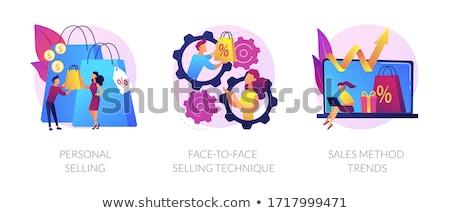 vásárló · kapcsolat · vezetőség · kommunikáció · siker · cél - stock fotó © rastudio