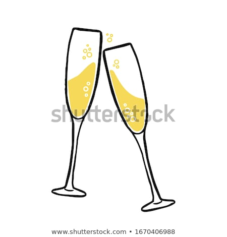 Champagne glasses and sweets Stock photo © karandaev
