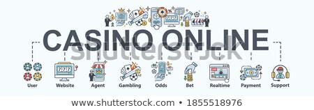 juego · mínimo · infografía · banner · vector - foto stock © pikepicture