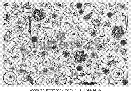 Giz esboço chá vetor quadro-negro Foto stock © Sonya_illustrations