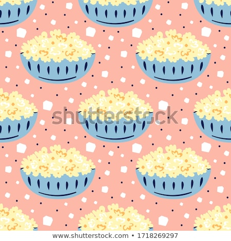 cartoon cute hand drawn fast food seamless pattern stock photo © balabolka