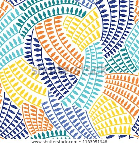 Najaar gestileerde bladeren kleur naadloos vector Stockfoto © barsrsind
