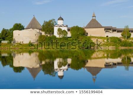 Kerk Rusland houten kapel kunst Stockfoto © borisb17