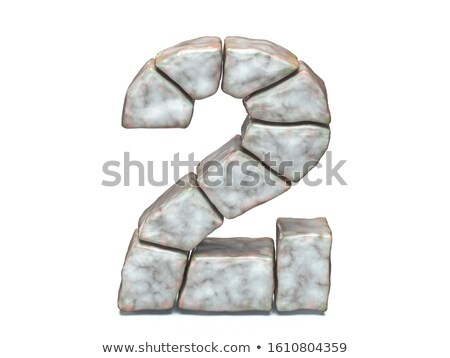 Rock masonry font Number 2 TWO 3D Stock photo © djmilic