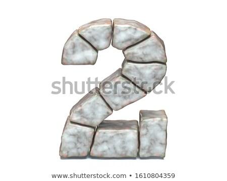 Rock kamieniarstwo chrzcielnica numer dwa 3D Zdjęcia stock © djmilic