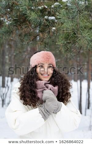 Cute alegre nina sonrisa con dientes caliente Foto stock © pressmaster