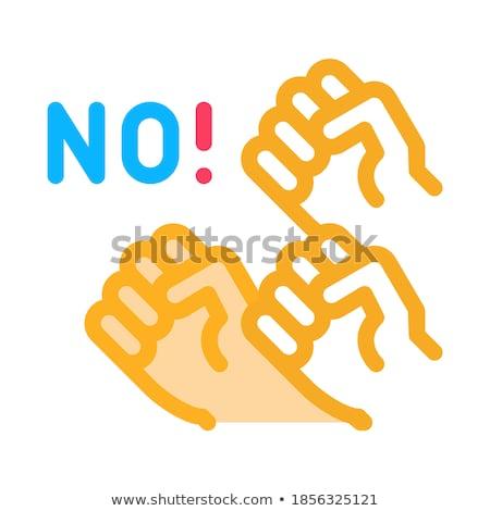 Wederzijds protest mensen icon vector schets Stockfoto © pikepicture