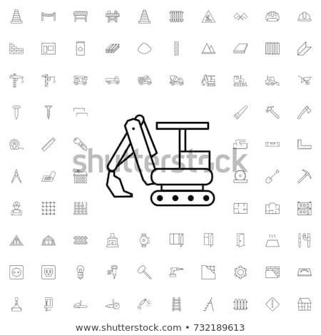 Graafmachine icon vector schets illustratie teken Stockfoto © pikepicture