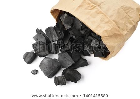 Sack of cut BBQ fire wood Stock photo © duoduo