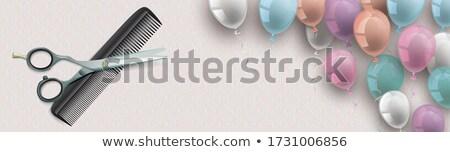 ножницы благородный орнамент баннер классический Сток-фото © limbi007