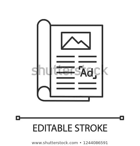 advertising booklet icon vector outline illustration Stock photo © pikepicture