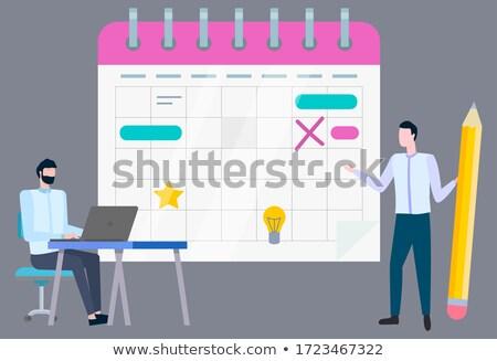 Piśmie działalności plan pokładzie spadać nowego Zdjęcia stock © robuart