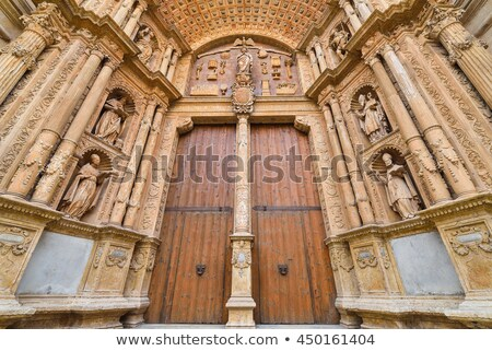 Cathedral of Majorca main door in Palma de Mallorca Stock photo © lunamarina