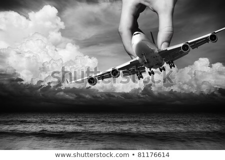 Hand of fate. Flight safety conceptual theme. Stock photo © moses